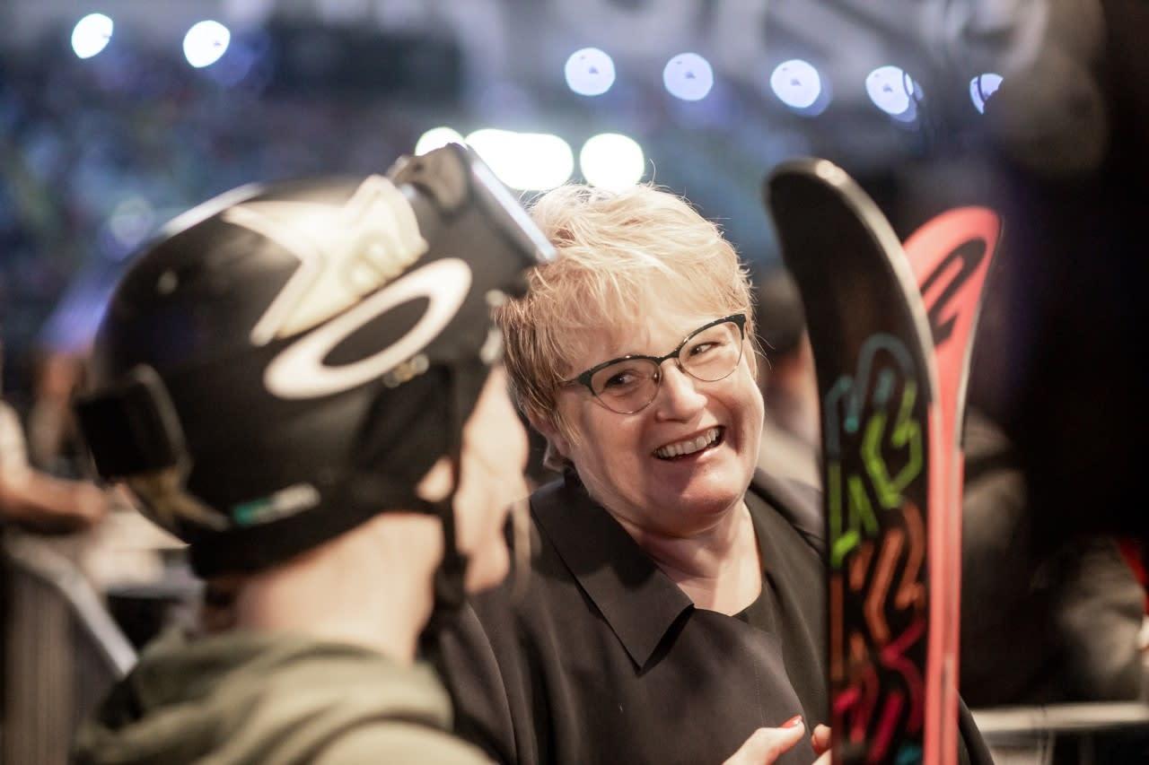 Kulturminister Trine Skei Grande var blant de som heiet på Killi i Telenor Arena. Foto: Andreas Løve Storm Fausko