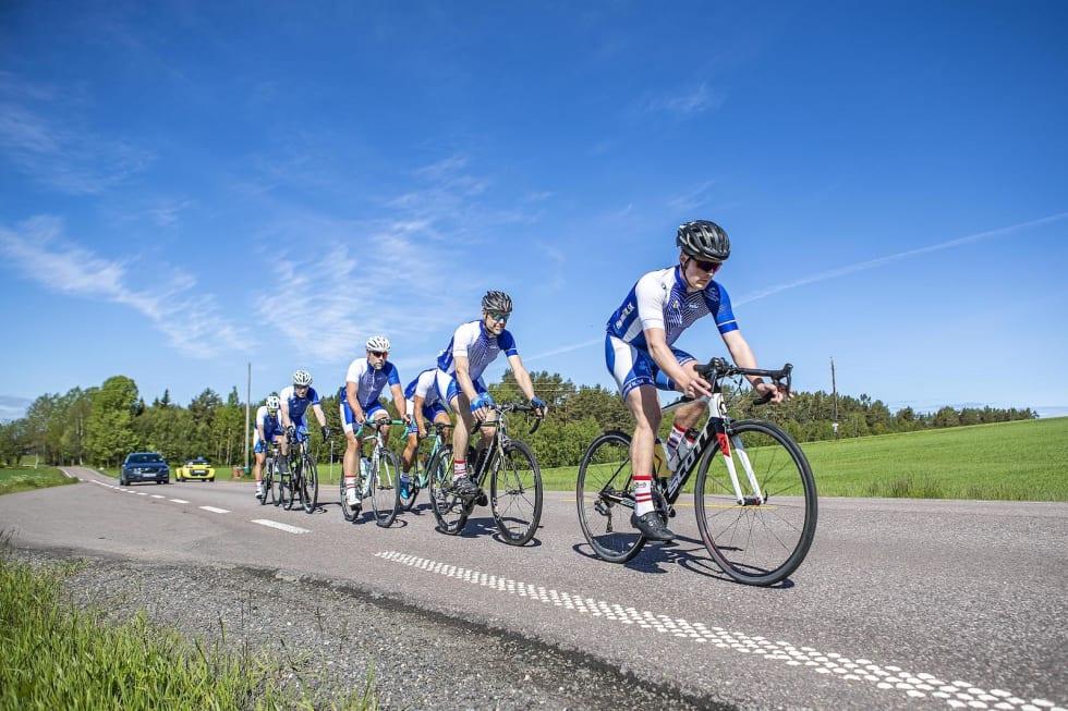 Høland IL Sykkel i fint driv. Foto: Pål Westgaard