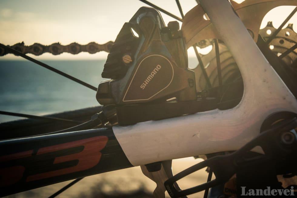 NETT: Vi liker de nye flat mount bremsekaliperne. Nye S3 har 160mm skiver foran og bak.