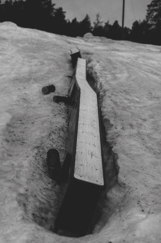 KREATIV SET-UP: Denne railen nøt vårmorgenen i Vardåsen.