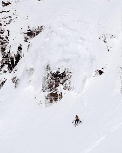 FRIKJØRING: ...i bratt og heisnært terreng. Det er Eikedalen det. Foto: Alric Ljunghager