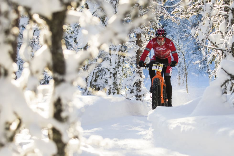 Regjerende norgesmester Vidar Mehl under Lygna Fatbike 2018. Foto: Per-Eivind Syvertsen
