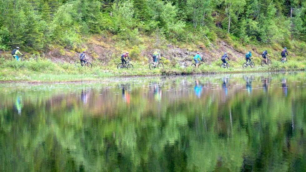 Trondheim stisykkelfestival har turer på kjente og ukjente stier og på flere nivåer, i år med enda større utvalg. Foto: Eirik Volent