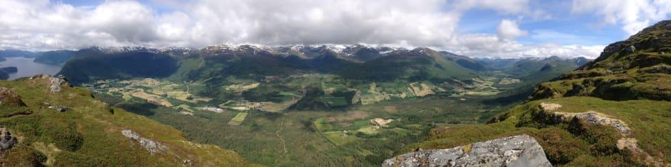 Panoramabilde frå Sætrehornet