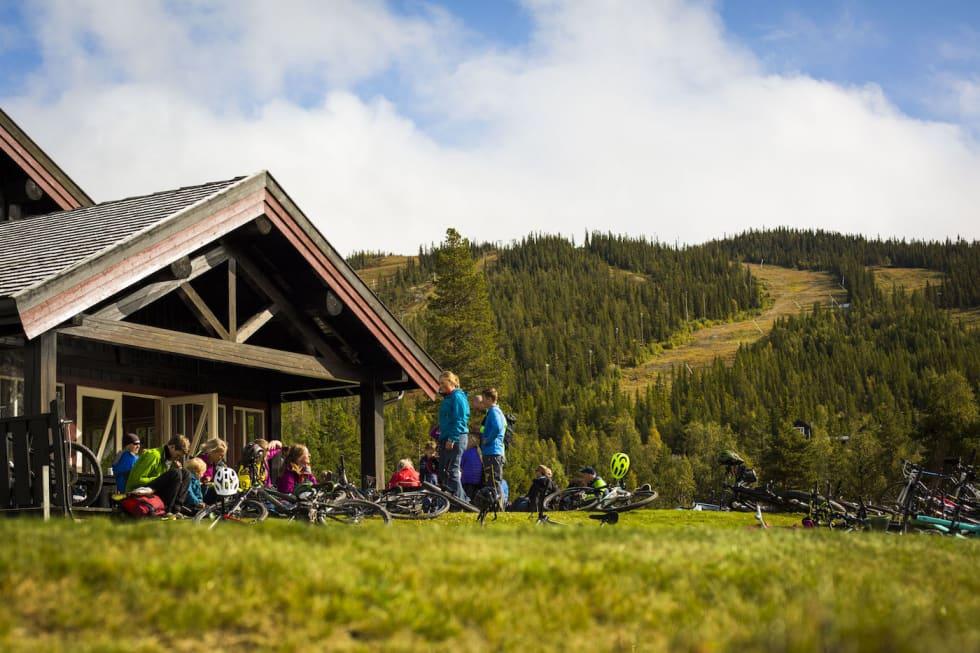 Sykkelglede ved Nesbyen Alpin - Snorre Veggan