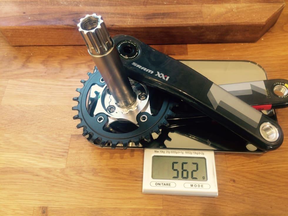 STANDARD: XX1 uten wattmåler veier 562 gram.
