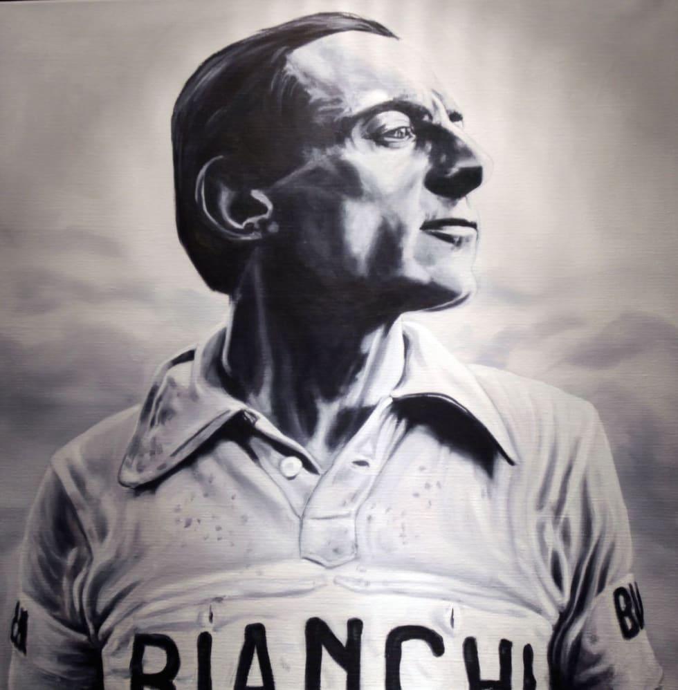 ALDRI TIL MÅL: Fausto Coppi, legende, som også snuste innom LBL, for å gi rittet litt av sin berømmelse. Fullførte gjorde han derimot ikke. Foto: Cor Vos.