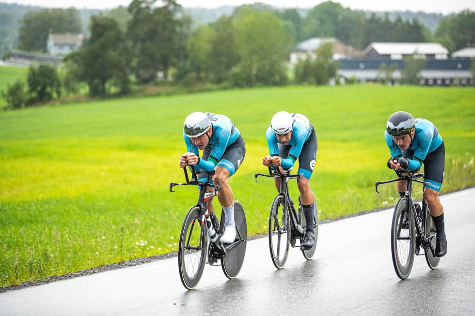 SØLV: Tønsberg CK tok andreplassen i menn senior. Foto: Pål Westgaard