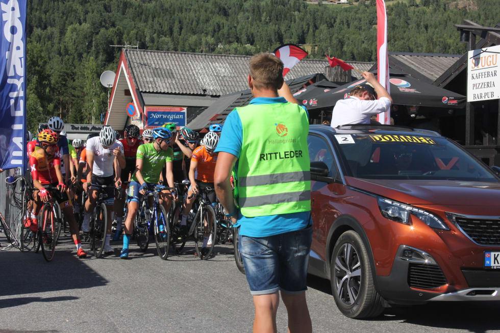 Ole Christian Nymoen - prestart Stage 3 Tour de Hallingdal 2018 - Scheve 1400x933