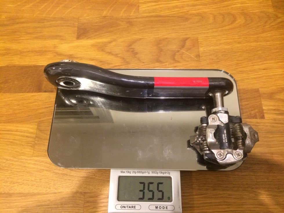 KARBON: En standard XX1-arm veier bare 40 gram mindre enn en X9 med Stages