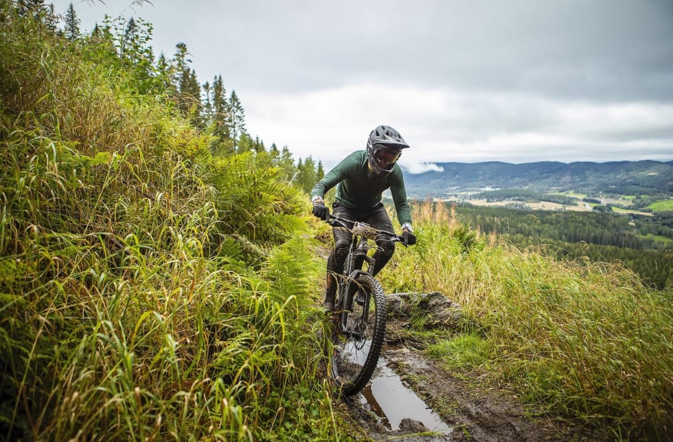 Noen gjørmepartier var relativt sugende. Foto: Pål Westgaard