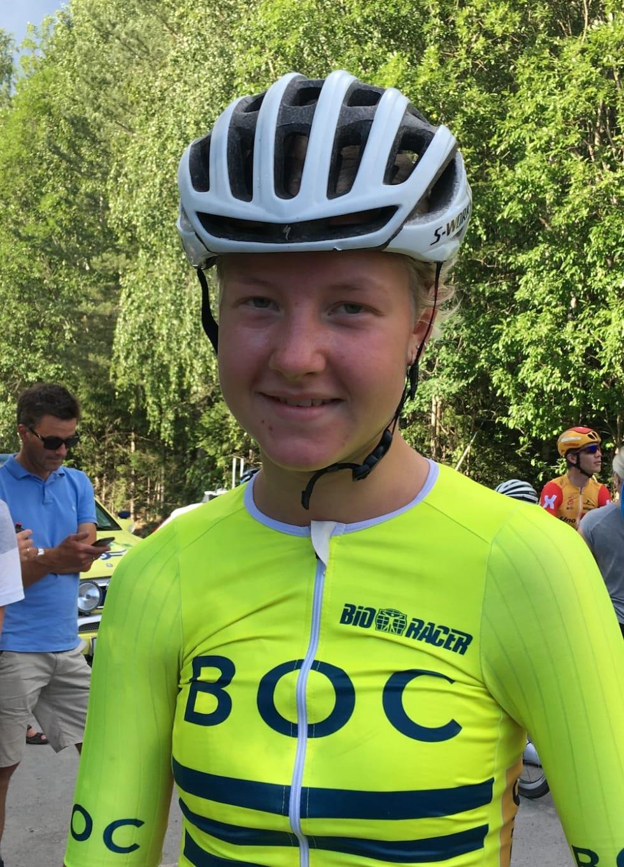 Thale Kielland Bjerk under Tour de Hallingdal 2018. Foto: Ingeborg Scheve