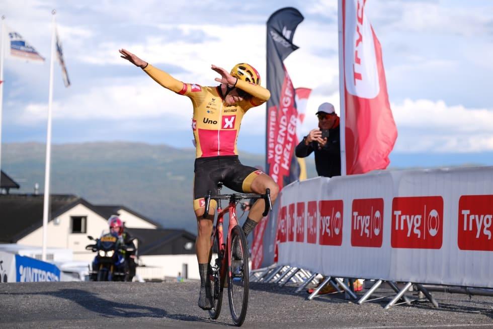 Jonas Iversby Hvideberg vant etappen.  Foto: Mikkel Skretteberg/Sportsfoto.no