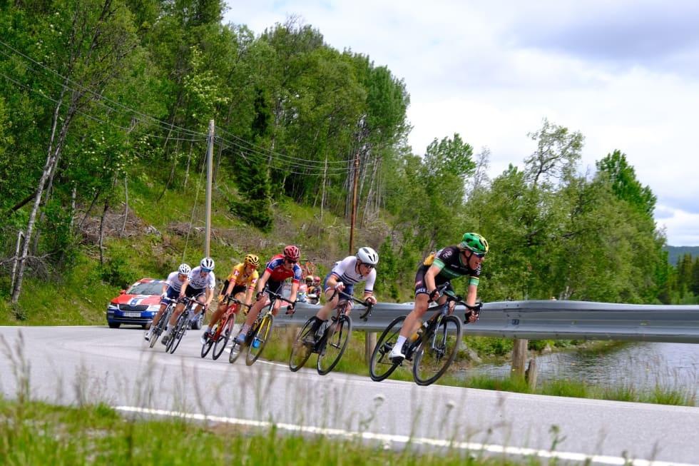 Andreas Staune-Mittet i front på siste etappe, men det holdt ikke helt inn. Foto: Mikkel Skretteberg/Sportsfoto.no