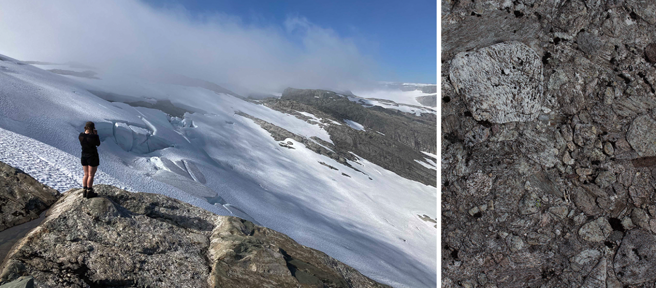 geologi ålfotbreen konglomerat