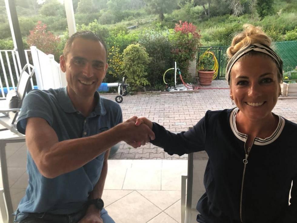 Julien Absalon og Pauline Ferrand-Prevot