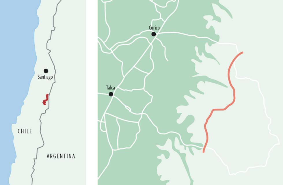 Alto-Cinco-Ski-Sør-Amerika-Kart