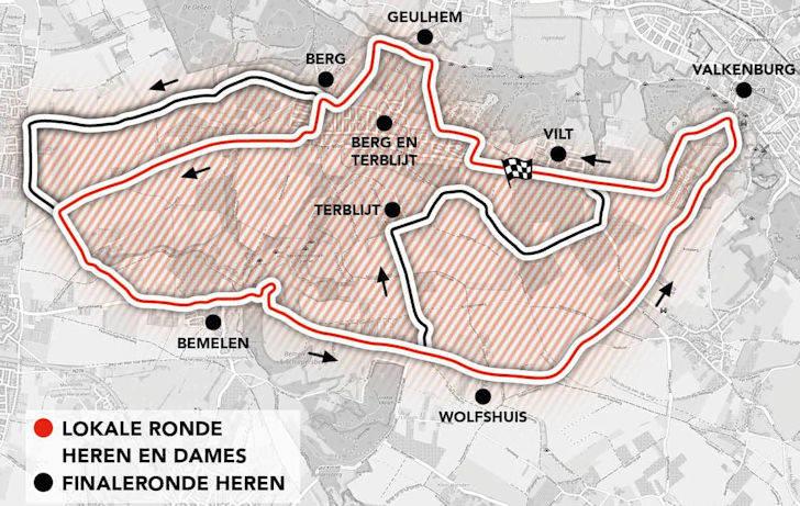amstel gold race 2021 løypekart