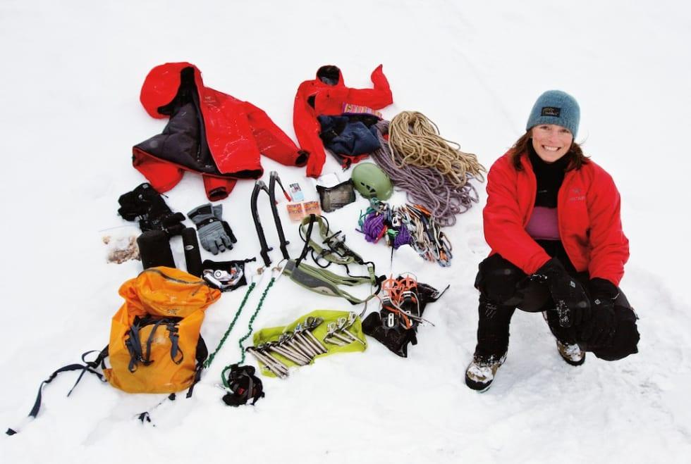 Annelin Henriksens utstyrsvalg for den lange turen.