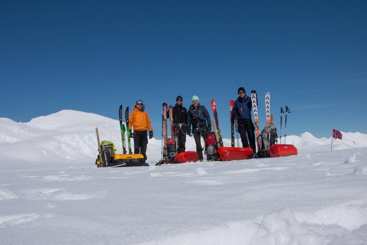 antarktis ekspedisjon tur seil og ski