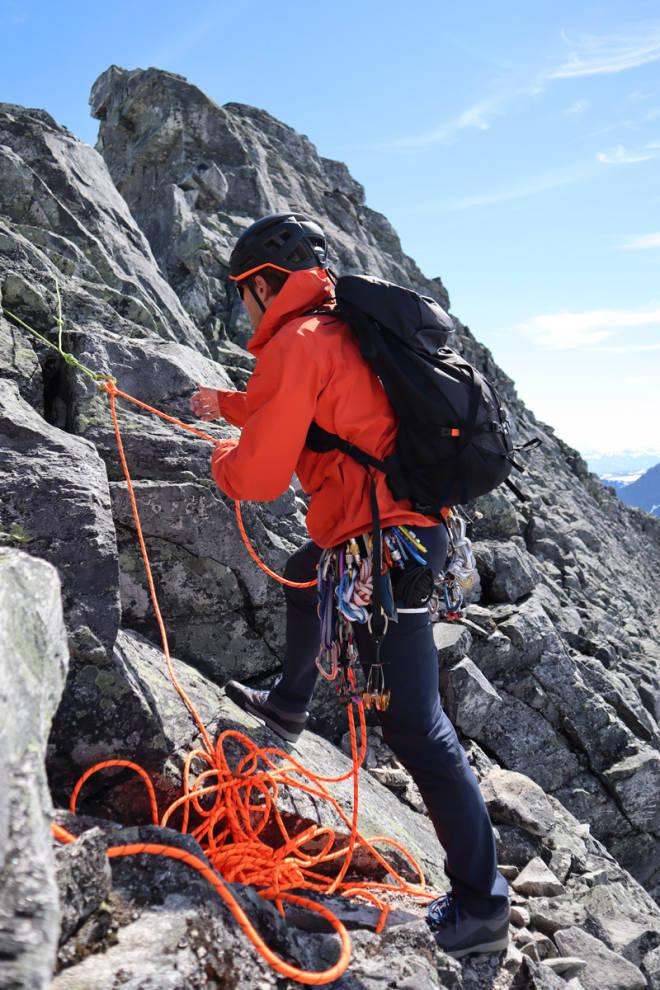 test klatrebukse fjellklatring Arc´teryx