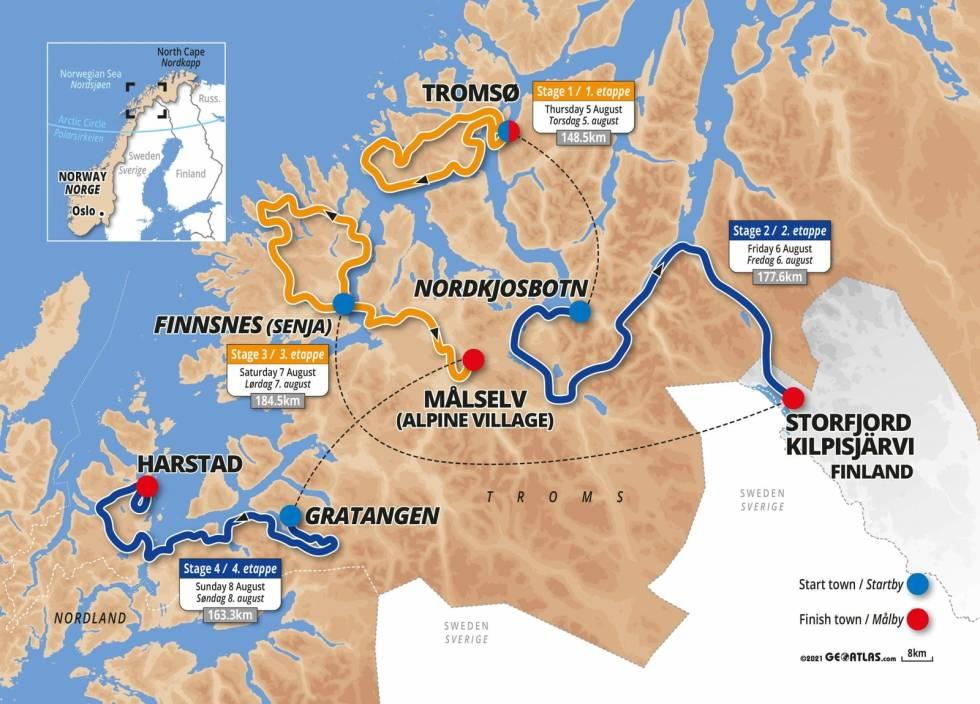 arctic-race-of-norway-2021-kart-etapper