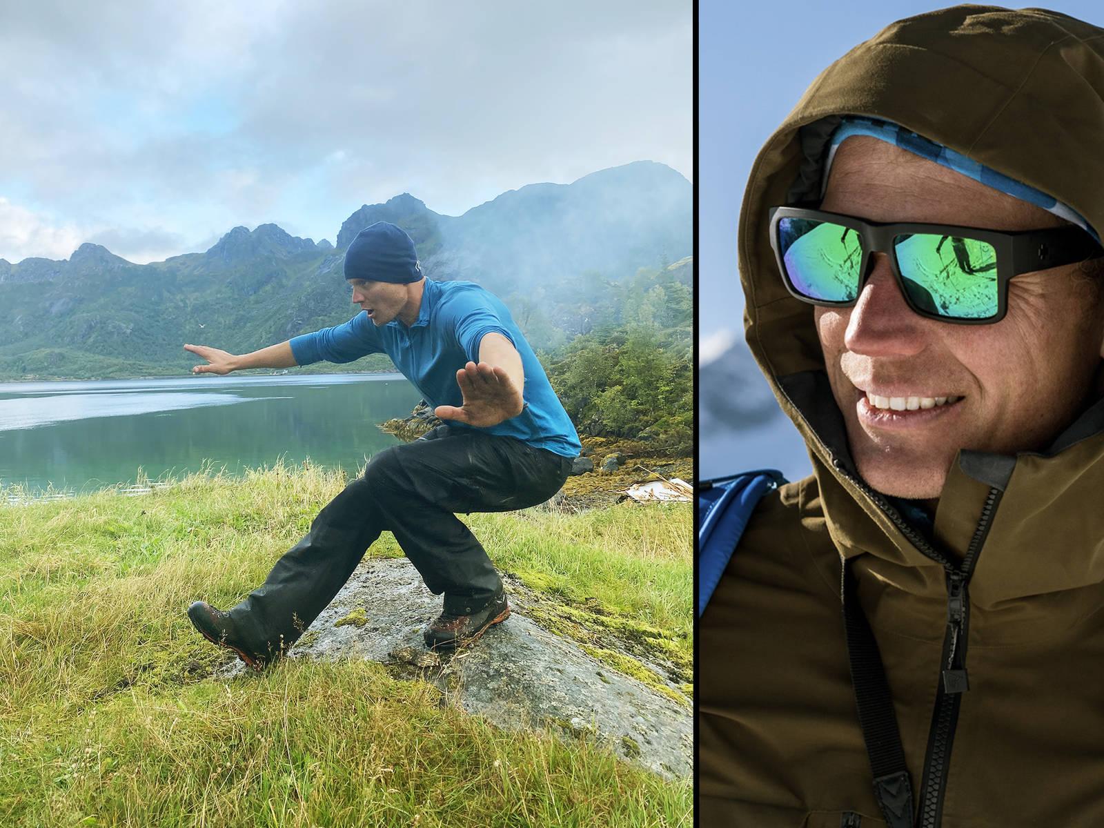 Det blir ikke mye tid til treningssentre i Asbjørn Eggebø Næss sitt travle liv. Men noen styrkende øvelser kommer han ikke unna før vinteren smeller i gang. Bilde: Privat / Christian Nerdrum
