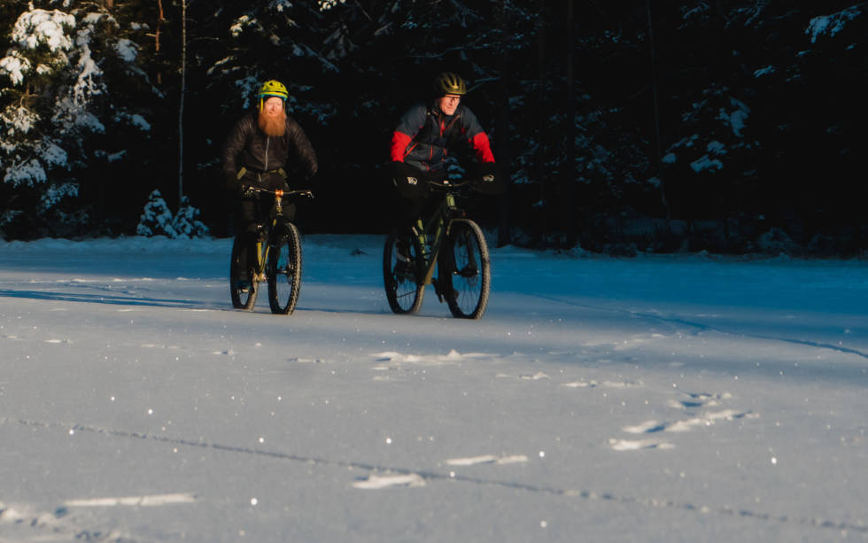 Utfordringen med vintersykling er at det kan være kaldt.