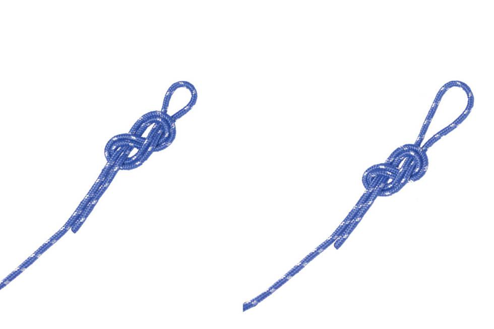 knyting av åttetallsknop hvordan knyte guide
