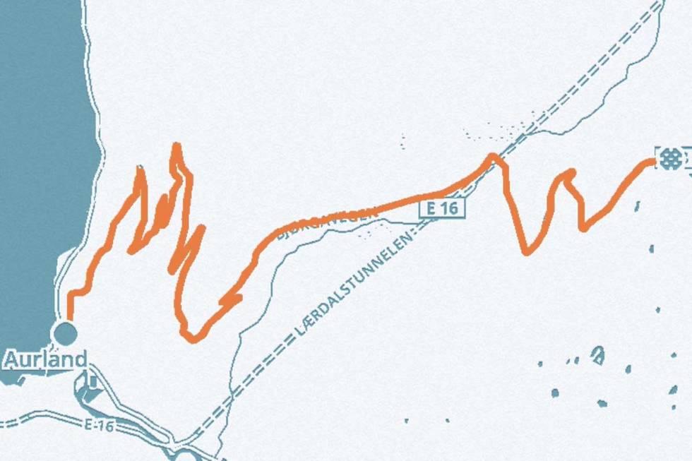 aurlandsfjellet-kart