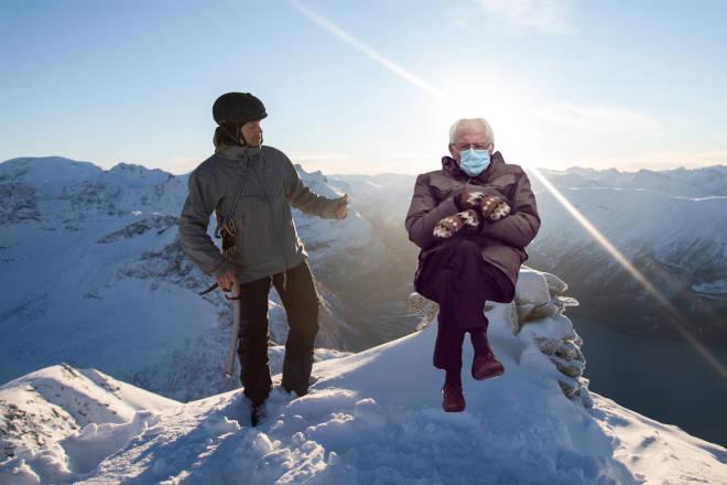 Bernie Sanders topptur skitouring ski