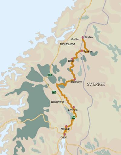 Bikepacking-Storlien–Oslo-Rute