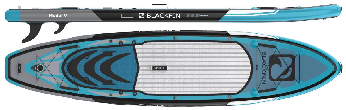 Blackfin Model V er laget for lange komfortable ekspedisjoner med muligheter for å både fiske og montering av kajakksete.