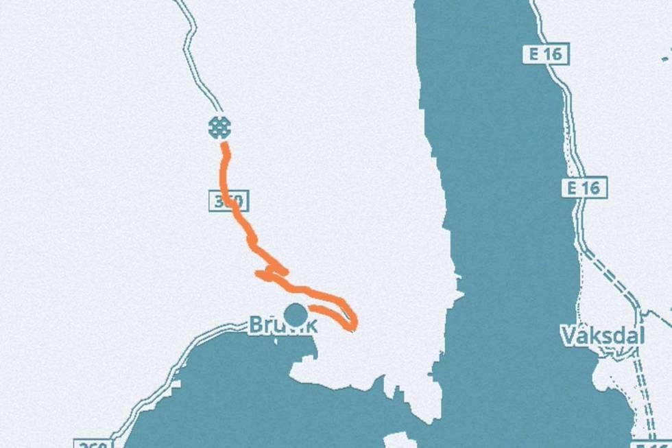 Bruvik-sykkel-kart