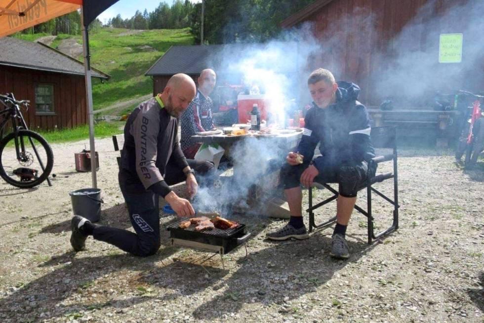Grilling i Kjerringåsen sykkelpark