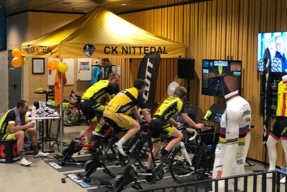 CK Nittedal 25-årsjubileum Zwift-maraton 25 timer sykkelmaraton