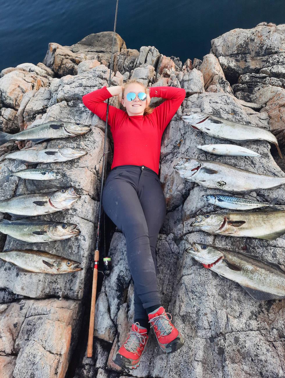dagens fangst makrell og lyr