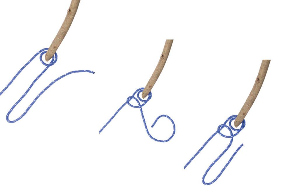 hvordan knyte dobbelt halvstikk guide