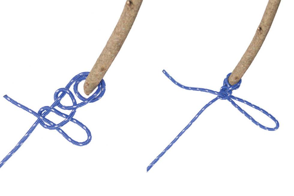 Knyting av dobbelt halvstikk guide