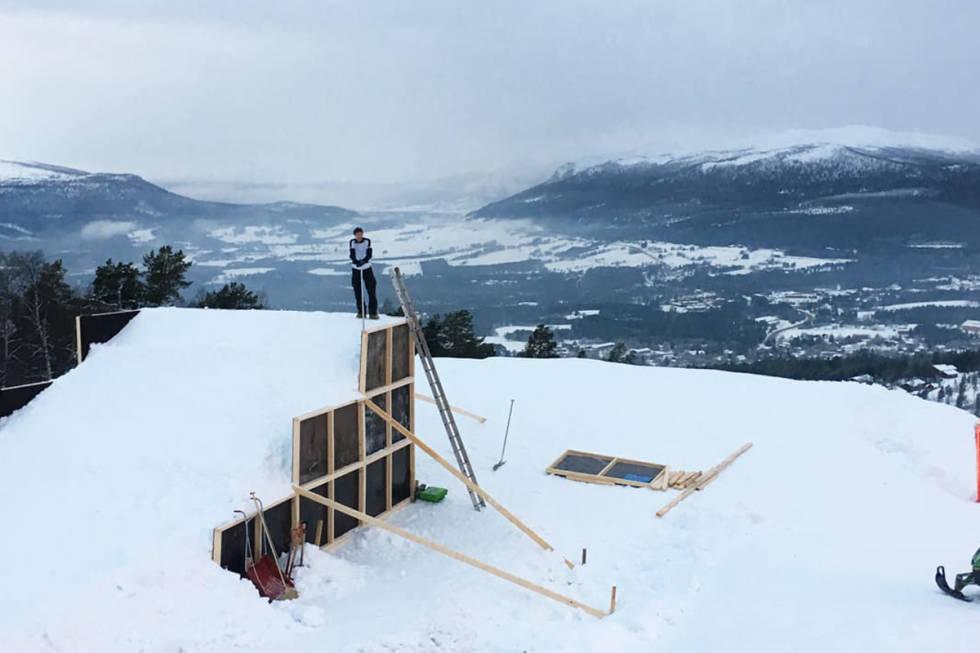 dombås skiheiser park hopp big air