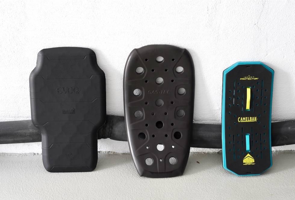 Beskyttelsesplater fra EVOC, USWE og Camelbak