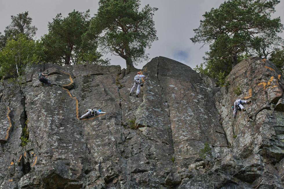 NEDBRYTBART JORDPIGMENT: Prosjektet foregikk mer spesifikt på Kjempesvaet i Østveggen på Kolsås.