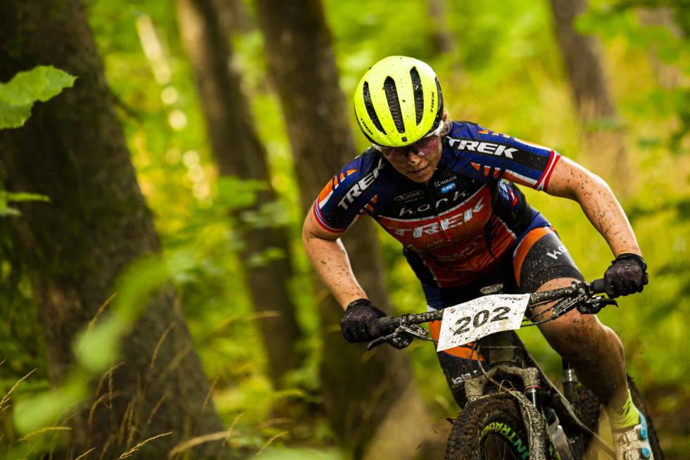 Elisabeth Sveum var beste norske i kvinner senior i Norgescupen på Skullerud. Foto: Snorre Veggan