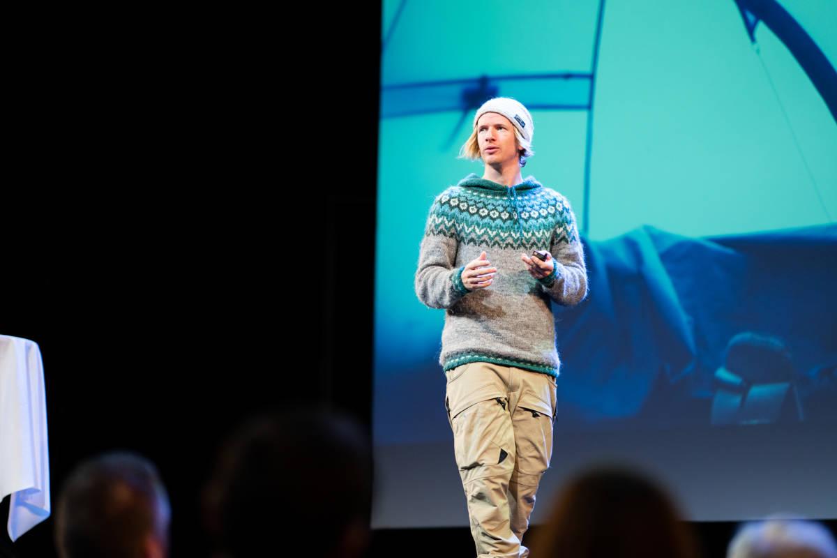 STIAN MED SEKKEN: Stian Aadland var blant trekkplastrene. Foto: Kyle Meyr
