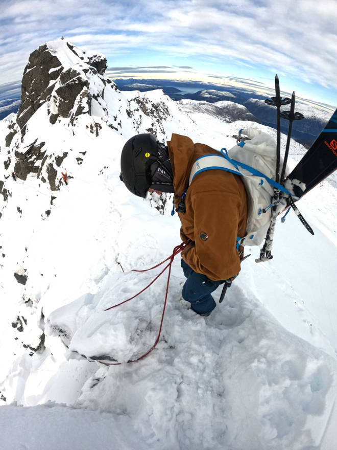 test fjellklatresekk Exped Whiteout