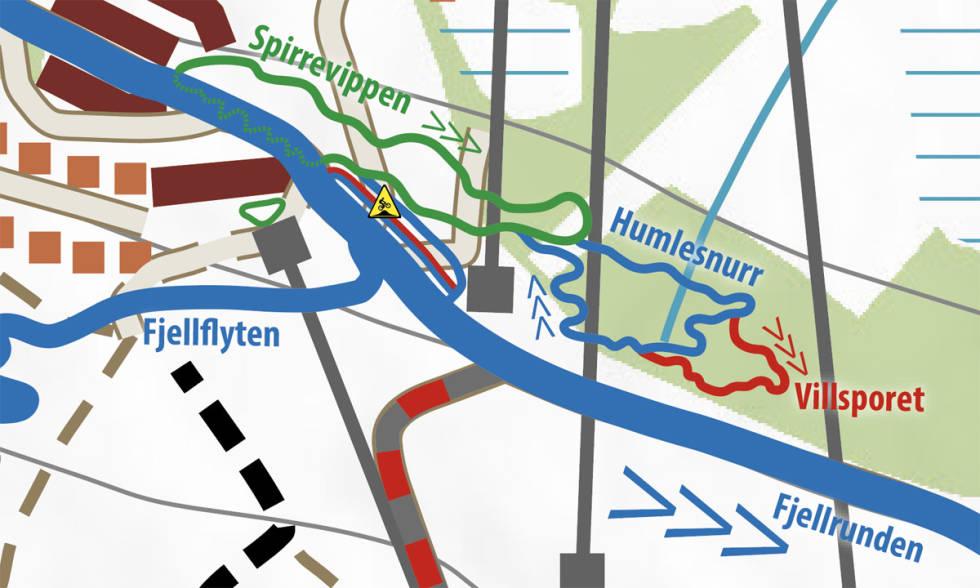 Kart over fageråsens nye ruter