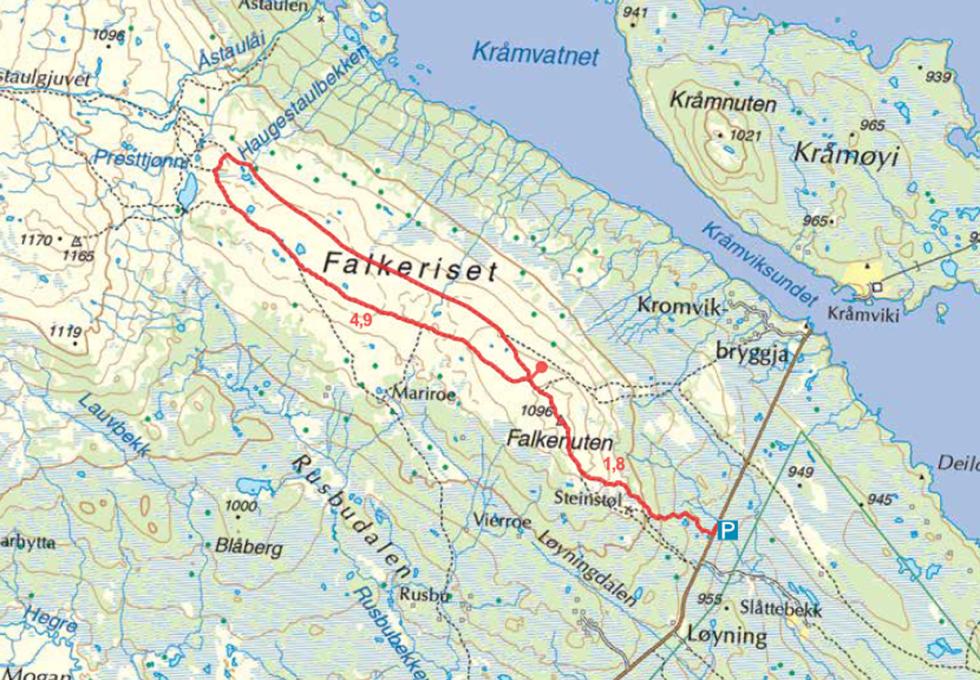 kart falkeriset falkenuten telemark