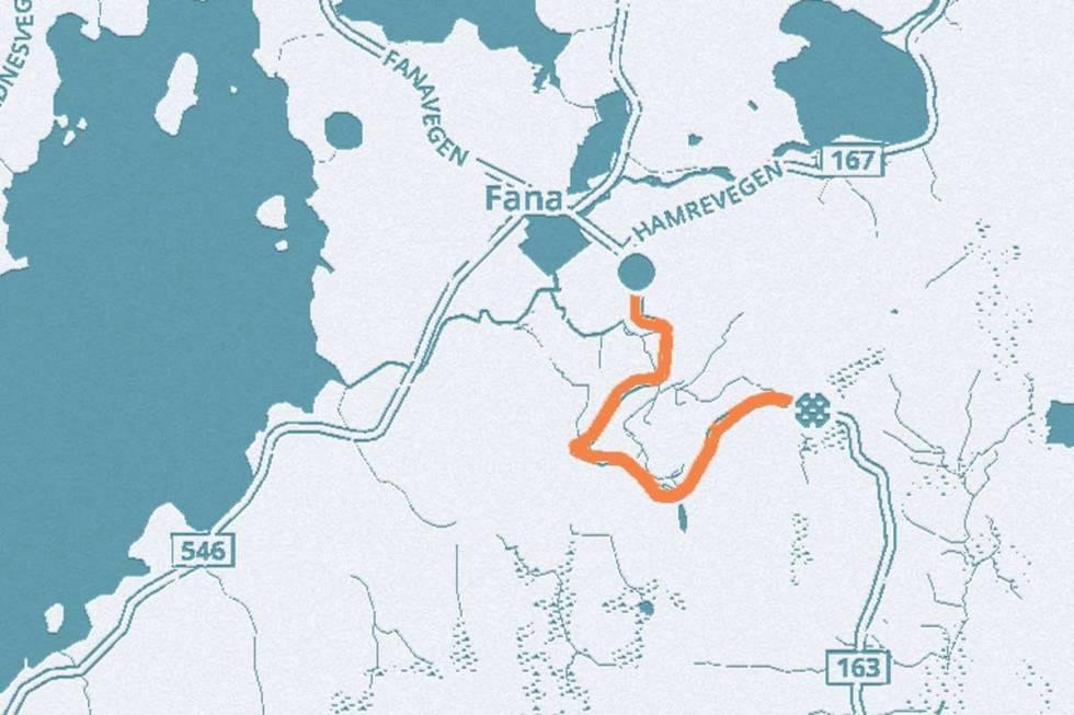 fanafjellet-kart