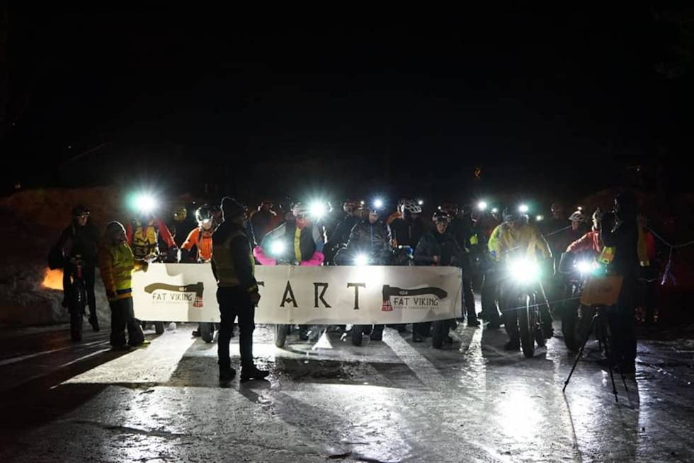 Startfeltet i Fat Viking 2020. Foto: Antti Ollila