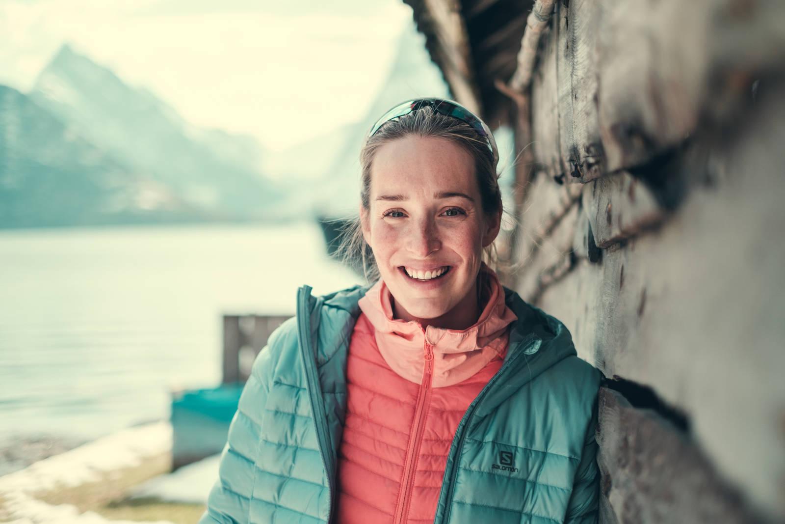 Heidi Pallin Aaring er i likhet med mannen Robert en svært dyktig skikjører. Allerede fem uker etter at sønnen Lavrans ble født, var hun på sin første skitur. Bilde: Bård Gundersen
